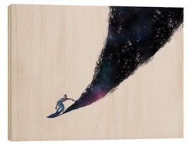 Wood print  Surfing the universe - Robert Farkas