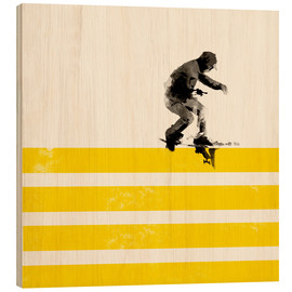 Wood print  Urban skateboard - Robert Farkas