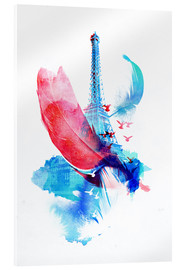 Acrylic glass  Pigeons of paris - Robert Farkas