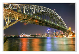 Premium poster  Sydney Harbour Bridge I - Thomas Hagenau