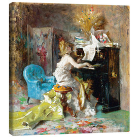 Canvas print  Woman at a piano - Giovanni Boldini