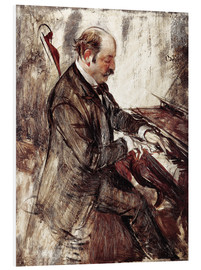 Foam board print  The Pianist - Giovanni Boldini