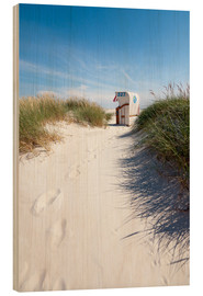 Wood print  Sunny day on the beach - Reiner Würz