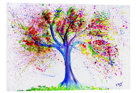 Foam board print  Tree of life and energy - M. Bleichner