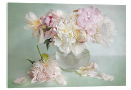 Acrylic glass  still life with peonies - Lizzy Pe