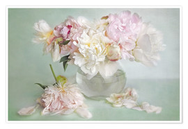 Premium poster still life with peonies