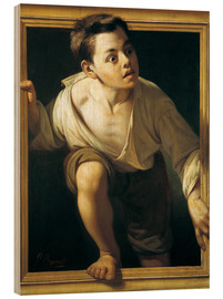 Wood print  Escape from criticism - Pere Borrell del Caso