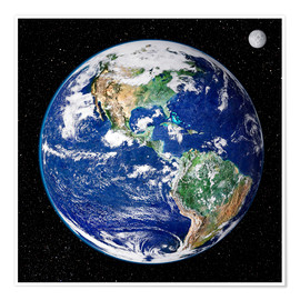 Premium poster Earth from space
