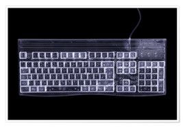 Premium poster  Computer keyboard, simulated X-ray - Mark Sykes