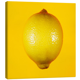 Canvas print  Lemon against yellow background - Mark Sykes