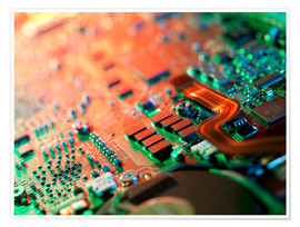 Poster  Laptop circuit board - Tek Image