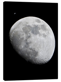 Canvas print  ISS and the Moon - NASA