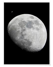 Premium poster  ISS and the Moon - Nasa