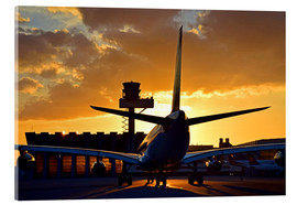 Acrylic print  Airbus at the Frankfurt airport - HADYPHOTO by Hady Khandani