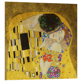 Foam board print  The Kiss (detail cross) - Gustav Klimt