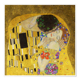 Premium poster  The Kiss (detail cross) - Gustav Klimt
