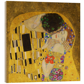 Wood print  The Kiss (detail cross) - Gustav Klimt