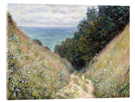 Acrylic print  Road at La Cavée, Pourville - Claude Monet