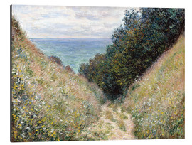 Aluminium print  Road at La Cavée, Pourville - Claude Monet