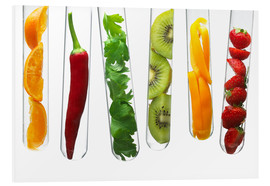 Forex  Fruit and vegetables in test tubes