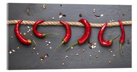 Acrylic print  red hot chilli peppers with spice - pixelliebe