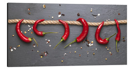 Aluminium print  red hot chilli peppers with spice - pixelliebe