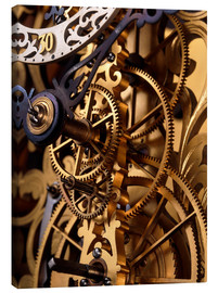 Canvas print  Internal gears within a clock - David Parker