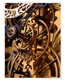 Premium poster Internal gears within a clock