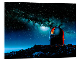 Detlev van Ravenswaay - Artwork based on Mauna Kea of a telescope dome
