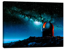 Canvas print  Artwork based on Mauna Kea of a telescope dome - Detlev van Ravenswaay