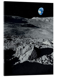 Acrylic print  Earth from the moon - Detlev van Ravenswaay