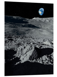 Foam board print  Earth from the moon - Detlev van Ravenswaay