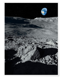 Premium poster  Earth from the moon - Detlev van Ravenswaay