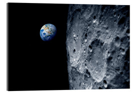 Acrylic print  Earth from lunar orbit - Detlev van Ravenswaay
