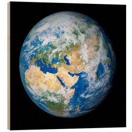 Wood print  Earth from space - Detlev van Ravenswaay