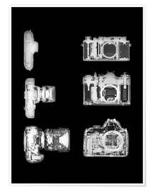Premium poster  X-ray of a digital camera - PhotoStock-Israel
