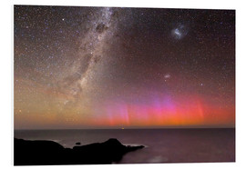 Foam board print  Aurora australis and Milky Way - Alex Cherney