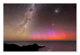 Premium poster  Aurora australis and Milky Way - Alex Cherney