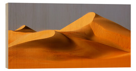 Wood print  Great Sand Sea, Sahara - Moser
