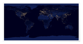 Premium poster  Earth at night - NASA