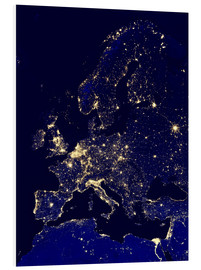 Foam board print  Europe at night - Nasa