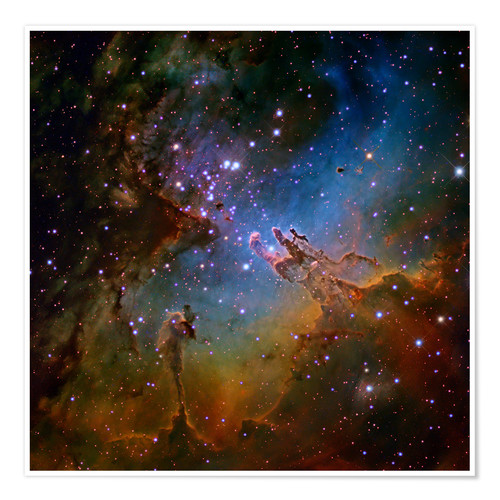Premium poster Eagle Nebula, Optical Image