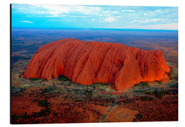 Aluminium print  Uluru (Ayers Rock) at sunset - I. Schulz