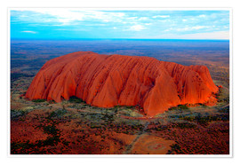 Premium poster Uluru (Ayers Rock) at sunset
