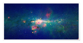 Poster Milky Way (infrared image)