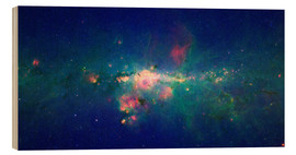 Wood print  Milky Way (infrared image) - NASA