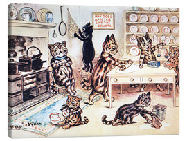 Canvas print  The Picture Book of Kittens 13 - Louis Wain