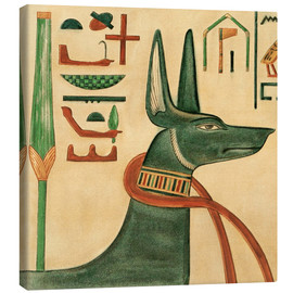 Canvas print  The Tomb of Siptah, Anubis - Ernest Harold Jones
