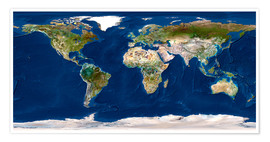 Premium poster Whole Earth map