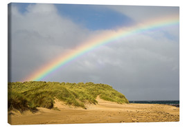 Canvas  Rainbow over sand dunes - Duncan Shaw